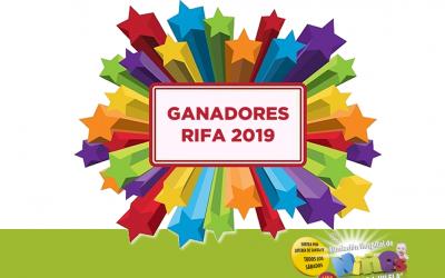 RIFA: Ganadores Diciembre 2019